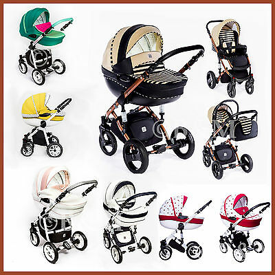 Baby Pram Stroller Buggy Pushchair travel system add car seat Isofix base 3in1
