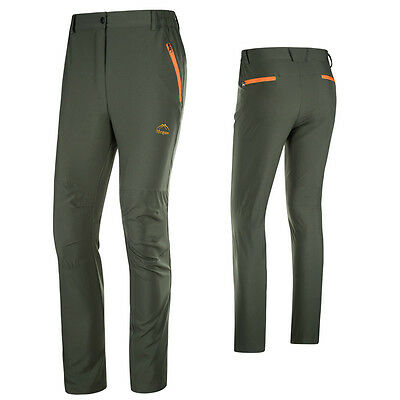 Mens Waterproof Quick Dry Anti-UV Hiking Fishing Outdoor Pants Straight Trousers