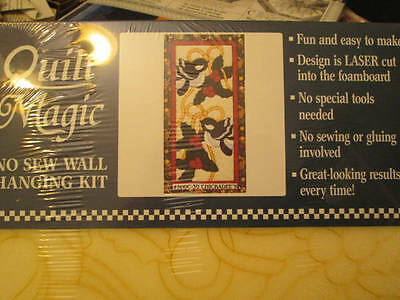 Chickadees Quilt Magic No Sew Wall Hanging Kit- 9.5x18.5 Inches