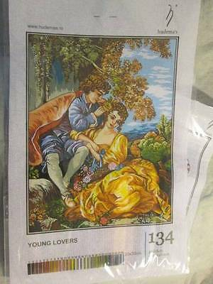 Hudemas Young Lovers Petit Point KIT #134 -23x30 cm (9x15.75 Inches)
