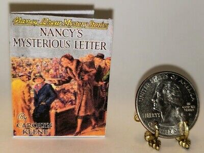 1:6 Scale Miniature Book Nancy's Mysterious Letter Nancy Drew Illustrated Playsc