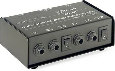 Dual Channel Direct Injection DI Box With Stereo/Mono Switch Stagg Model SDI-ST