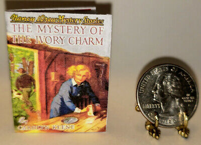 1:6 Scale Miniature Book Mystery Ivory Charm Nancy Drew Illustrated Playscale