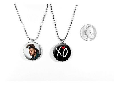 The Weeknd Echoes of Silence Can't Feel My Face 2 Sided Necklace
