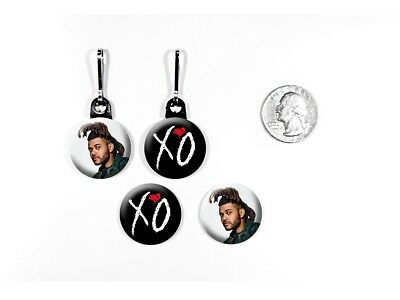 The Weeknd Echoes of Silence Can't Feel My Face Zipper Pulls w/ Buttons
