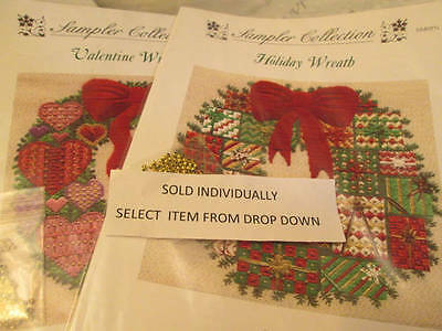 Laura Perin Sampler Collection Wreath Canvaswork CHART Your Choice