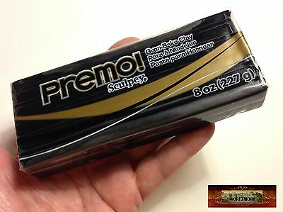 M00524 MOREZMORE Premo Sculpey BLACK 8oz Sculpting Modeling Polymer Clay