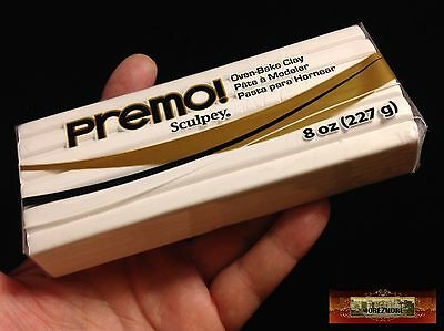 M00564 MOREZMORE Premo Sculpey WHITE 8 oz Sculpting Modeling Polymer Clay A60