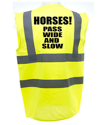 Pass Wide Adult Horse Riding Hi-Vis Safety Vest Equestrian. High Viz Waistcoat