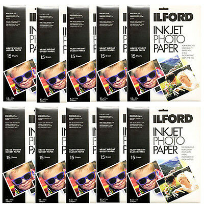 "Inkjet Photo Paper Ilford Glossy 8.5x11"" 150 Sheets for Canon HP Epson"