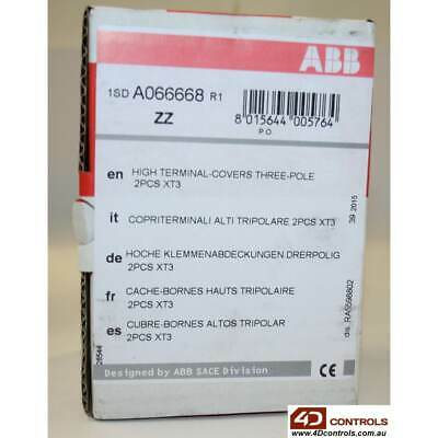 ABB A066668R1 HTC XT3 3P Terminal Cover High 2 Pieces - New Surplus Open