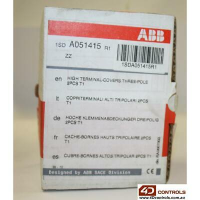 ABB A051415R1 Terminal Covers T1 High Insulating 2 Pieces - New Surplus Open