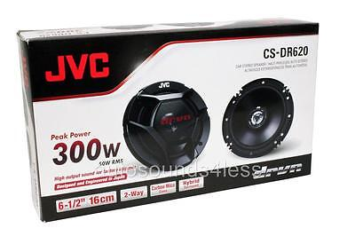 "JVC CS-DR620 DR Series 300 Watts 6.5"" 2-Way Coaxial Car Audio Speakers 6-1/2"""