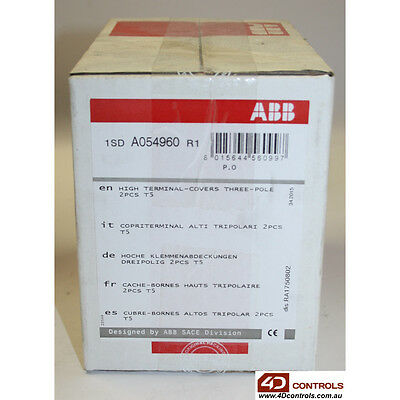 ABB 1SDA054960R1 TERMINAL COVER HIGH INSULATION 3POLE T5 - New Surplus Sealed