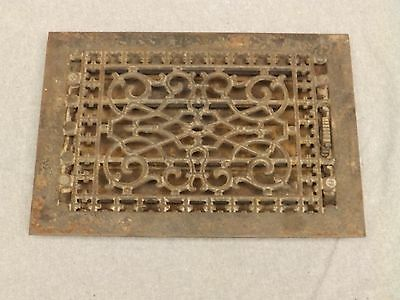Antique Cast Iron Victorian Heat Grate Register Vent Old Vtg Hardware 614-16