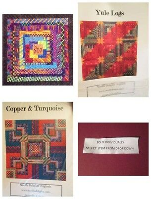 Needle Delights Canvaswork CHART Your Choice -Yule/Boo Logs/Copper & Turquoise