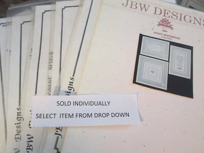 JBW Designs Needlepoint OR Cross Stitch CHART Your Choice