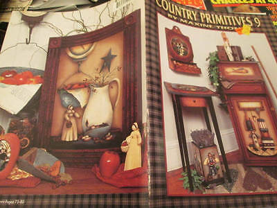 Country Primitives Painting Book #9-Thomas-Angels/Bunny, Pilgrim, Raggedy, Snowm