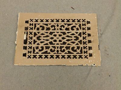 Antique Cast Iron Victorian Heat Grate Register Vent Old Vtg Hardware 619-16