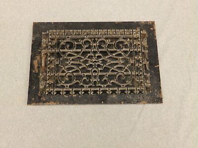 Antique Cast Iron Victorian Heat Grate Register Vent Old Vtg Hardware 620-16
