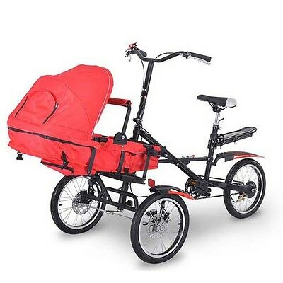 3 in 1Portable Folding Carry Baby Bike Child Baby Bike Bicycle Cart Stroller New