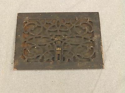 Antique Victorian Cast Iron Heat Grate Register Vent Old Vintage Hardware 629-16