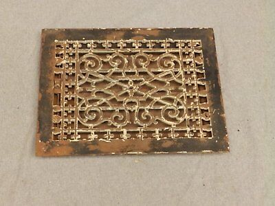 Antique Victorian Cast Iron Heat Grate Register Vent Old Vintage Hardware 636-16