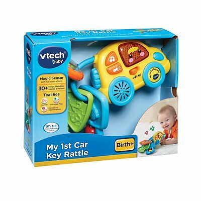 New Vtech Baby Infant Toy Play My 1St First Car Key Keys Rattle Blue 150603