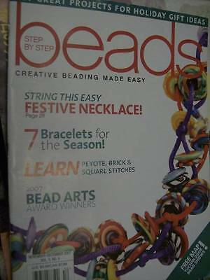 Step By Step Beads November/December 2007 Magazine -12+ Projects-Peyote/Brick &a
