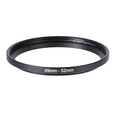 49mm-52mm 49mm To 52mm Step Up Rings Metal Lens Filter Ring Adapter Black 49-52