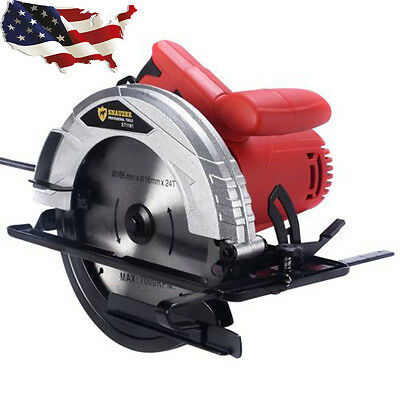 """10Amp 7-1/4"""" Bevel Adjustable Electric Circular Saw Working Power Tool New"""