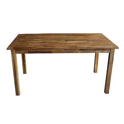 Charles Bentley Solid Oak 6-8 Seater Wooden Dining Table Rectangular 150cm Lngth