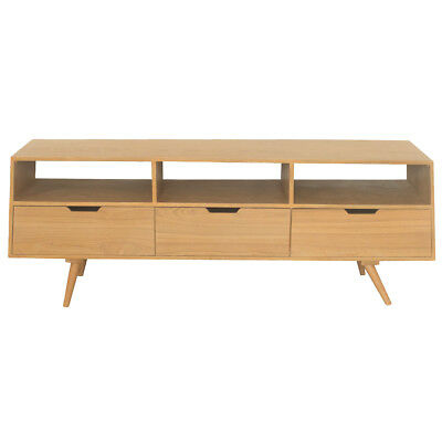 Charles Bentley Skandi TV Cabinet Storage Wooden Flat Packed Table TV Unit Stand