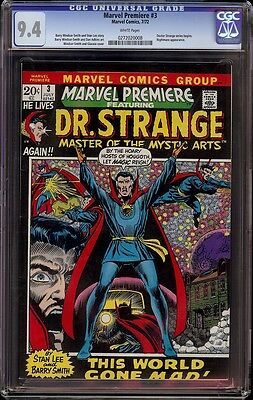 Marvel Premiere # 3 CGC 9.4 White (Marvel,1972) Doctor Strange series begins