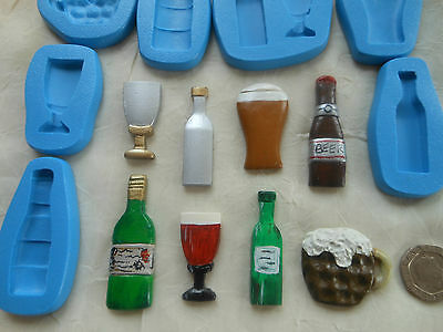 1x Sugarcraft/FIMO Mould: LARGER DRINK Themed