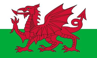 Welsh Flag Wales Sticker Self Adhesive