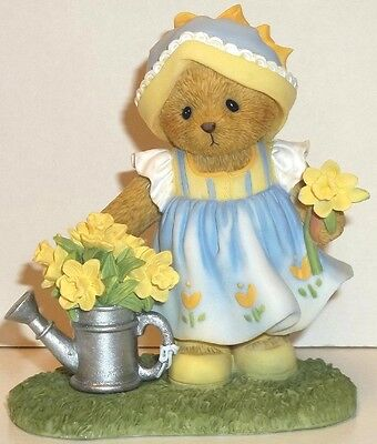 Cherished Teddies Collectible Bear Daffodils New In Box #4044693
