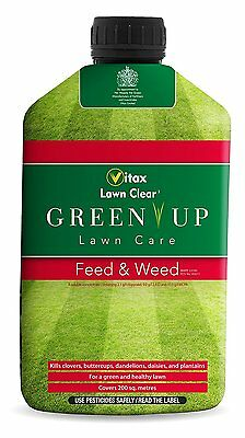 Vitax 1L Green Up Liquid Lawn Feed and Weed NEW