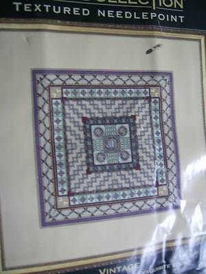 Dimensions Gold Collection VINTAGE Textured Needlepoint Kit 8x8 Inches