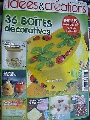 Idees & Creations Magazine #4- 36 Boites Decoratives French Text ONLY