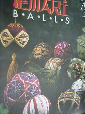 Embroidery Temari Balls Booklet, Ornaments, Annie's Attic, 1992- Kay Uz