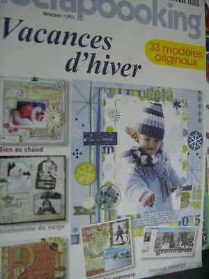 Creation Scrapbooking French Magazine #14- Vacances d'Hiver -33 Modeles