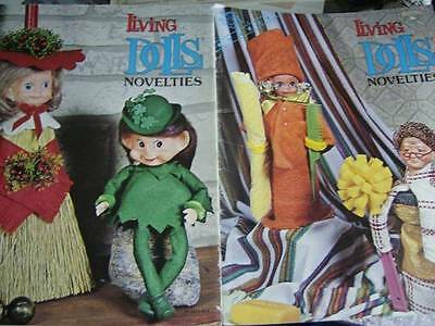 Living Dolls Novelties Sewing Craft Booklet- Clowns, Cupies, Christmas, Angels,