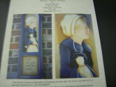 Amish Girl & Doll Painting Packet- Gloria Brown