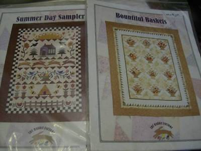 Rabbit Factory Quilt Sewing PATTERN Your Choice Bountiful Baskets OR Summer Day