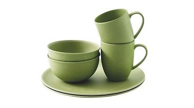 Outwell Bamboo Dinner Set 2 person Green