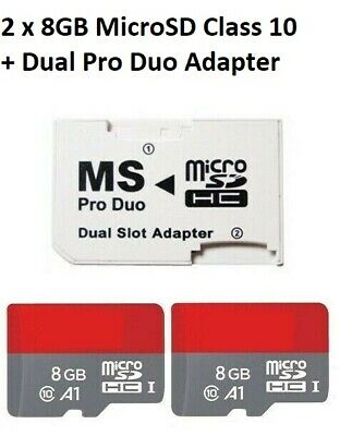 16GB (8GB x 2) MEMORY STICK PRO DUO CARD FOR SONY PSP 1000 2000 & 3000 SERIES