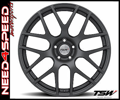 "20"" TSW Nurburgring 20x9 Matte Gunmetal Concave Wheels for BMW E39 525 528 540"