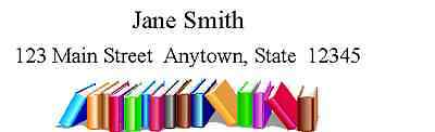 150 personalized return address labels BOOKS ON THE BOTTOM