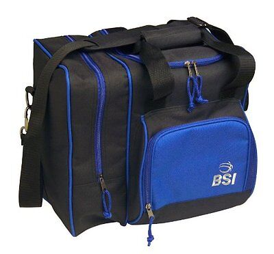 NEW BSI Deluxe Single Bowling Ball Tote Bag Black Blue FREE SHIPPING